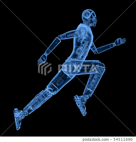x-ray robot running or jumping 54511890