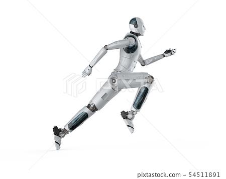 robot running or jumping 54511891
