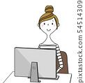 年輕的女士媽媽PC 54514309