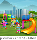Children playing in the playground 54514641