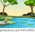 The nature scene background with lake and lotus 54514655
