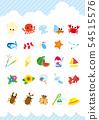여름의 풍물 아이콘 세트 54515576