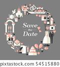 Wedding symbols set. 54515880