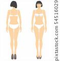 Beauty standing woman, full length portrait : 54516029