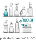 Plastic Bottle For Bleach Detergent Set Vector 54516225