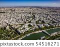 파리 : 에펠 탑에서 본 두비리 다리 54516271