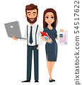 Business man and business woman 54517622