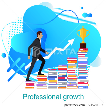 Personal Growth Businessman Suit Colorful Design 54520303