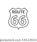 US route 66 sign. 54522634