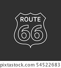 US route 66 sign. 54522683
