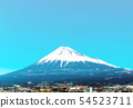 Fuji seen from Shinkansen car window 54523711
