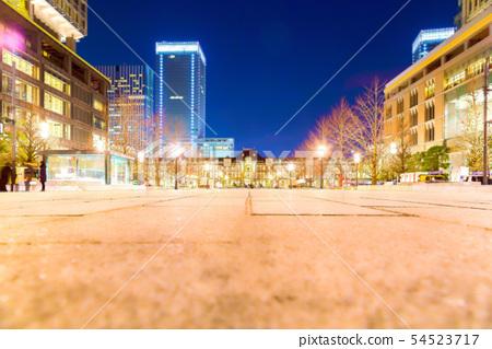 Tokyo Station Night view 54523717