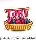 Vector logo for Tart dessert 54524049