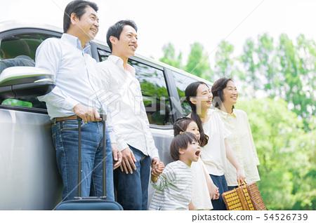 세 가족 자동차 여행 54526739
