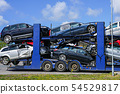 Car carrier trailer with used cars for sale on 54529817
