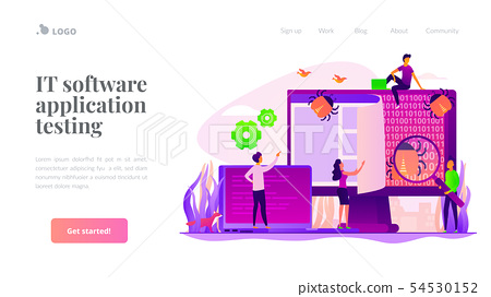 Software testing landing page template 54530152