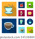 Isolated object of cup and coffe icon. Collection of cup and top stock symbol for web. 54536884