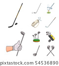 Vector design of stick and field logo. Collection of stick and club stock vector illustration. 54536890