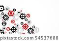 Gears wheels over white background. teamwork 54537688