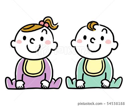 寶貝,寶貝,嬰兒 54538188