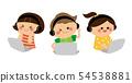 컴퓨터를 조작하는 아이들 54538881