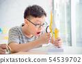 아시아풍, 학생, 어린이 54539702