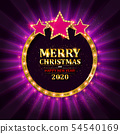 Happy New Year 2020 and Merry Christmas 54540169