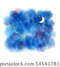 夜水彩插圖 54541781