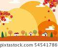 단풍과 가을 산 상가 일러스트 54541786