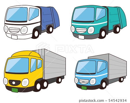 garbage truck, truck, vehicle 54542934