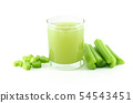 Fresh celery vegetable isolated on white 54543451