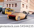 รูปภาพรถยนต์ในกำกับของรัฐและไมโครบัสผ่านทางแยก แนวคิดแชร์ส่วนแบ่ง 54544235