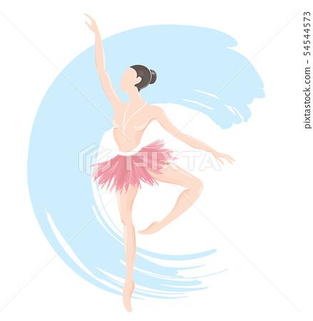 woman ballerina, ballet logo icon 54544573