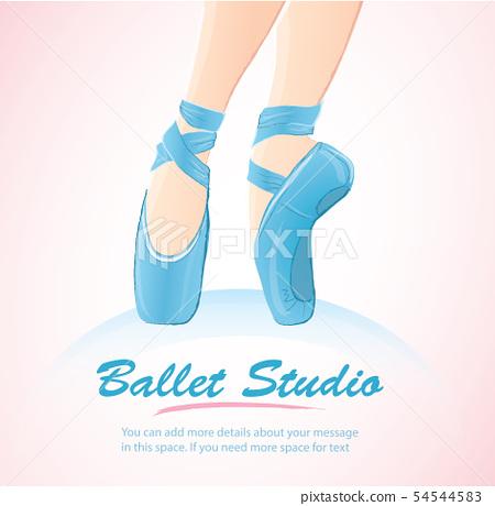woman leg ballerina background  54544583