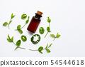 Bottle of essential oil with jasmine flower 54544618