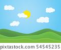 Flat design illustration of summer mountain 54545235