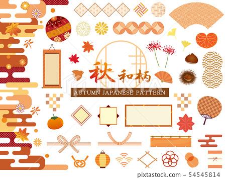 秋日花纹时尚装饰材料 54545814