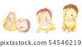 Akachan的成長腳劫掠高高坐的水彩插圖 54546219