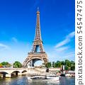 世界遺產巴黎塞納河埃菲爾鐵塔 54547475