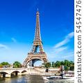 世界遺產巴黎塞納河埃菲爾鐵塔 54547476