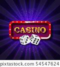 Casino dice banner signboard 54547624