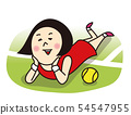 Lying tennis player girls 54547955