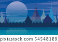 Thailand temple poster vector illustration 54548189