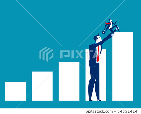 Big business helped small business to success. 54551414