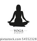 yoga for pregnant women silhouette 54552328