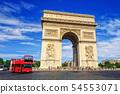 The Triumphal Arch, Paris, France 54553071