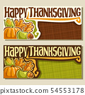 Vector banners for Thanksgiving 54553178