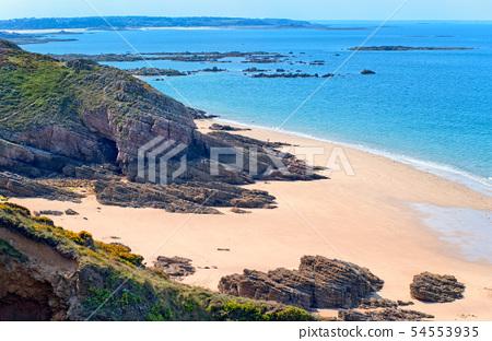 Sand beach, Brittany, France 54553935