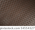 Alligator or snake brown Leather hexagon stitched 54554327