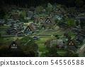 Gifu Prefecture Shirakawago Spring Night view 54556588